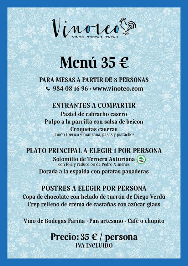 menu navideño vinoteo
