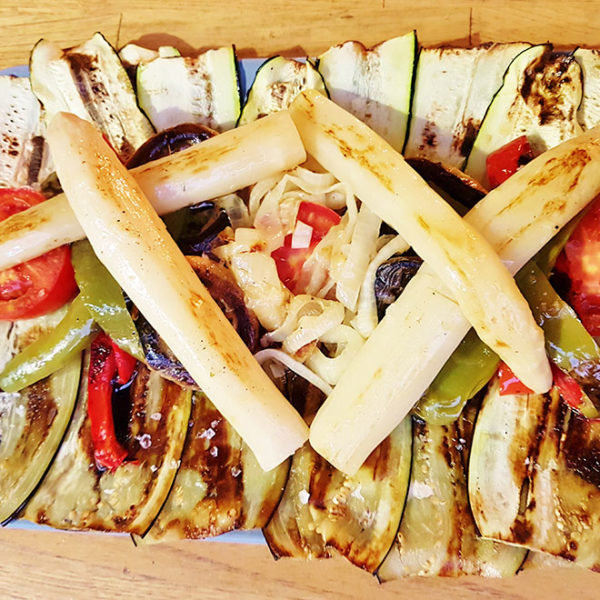 Grilled fresh vegetables