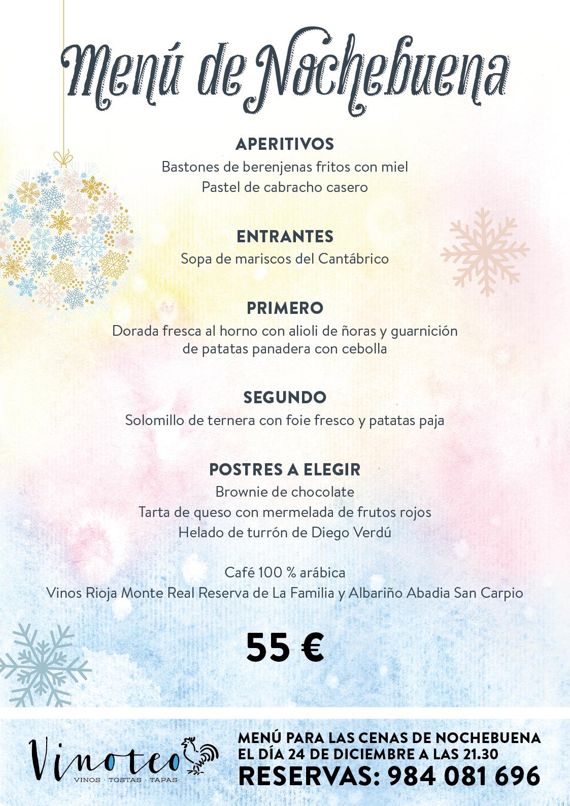 Pasa Nochebuena Con Vinoteo Y Con Un Menú Especial